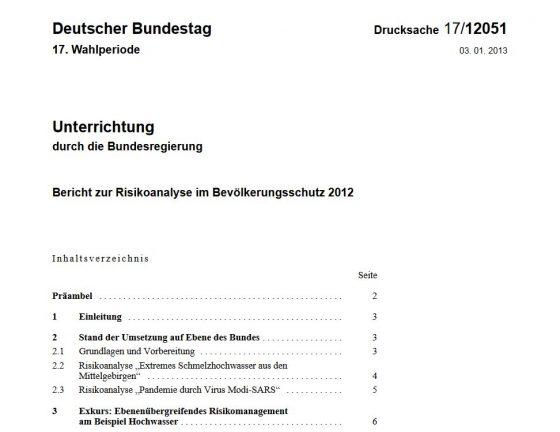 In diesem Bericht mit am Beispiel eines veränderten SARS-Erregers gut beschrieben, welche Auswirkungen zu erwarten sind, wenn man untätig bleibt und wie Deutschland die Ausbreitung eines neuen Viruses eindämmen kann.
